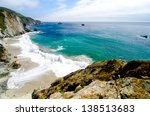 Small photo of A Beautiful View of the California Coastline along State Road 1.
