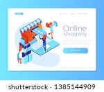 Isometric Flat Online Shopping. ...