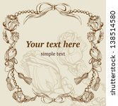 vector vintage background ... | Shutterstock .eps vector #138514580