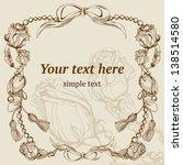 vector vintage background ... | Shutterstock .eps vector #138514580