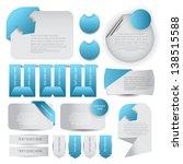 web designing element set | Shutterstock .eps vector #138515588