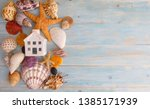 beach house holiday. photo image | Shutterstock . vector #1385171939