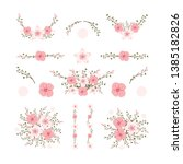 isolated flower elements with...