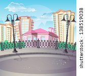 illustration of city and urban... | Shutterstock .eps vector #138519038