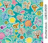seamless sea background. the... | Shutterstock . vector #138519059