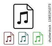 mp3 file icon  flat icon ... | Shutterstock .eps vector #1385191073