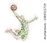 abstract basketball player dunk ... | Shutterstock .eps vector #1385211719