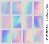 abstract blurred holographic... | Shutterstock .eps vector #1385236409