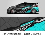 car wrap livery decal  vector   ... | Shutterstock .eps vector #1385246966