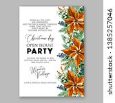 winter floral christmas party... | Shutterstock .eps vector #1385257046