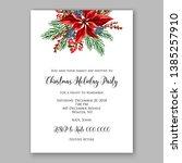 poinsettia christmas party... | Shutterstock .eps vector #1385257910