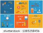 world no tobacco day set of... | Shutterstock . vector #1385258456