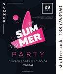 vector illustration  summer...   Shutterstock .eps vector #1385263460