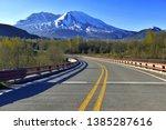 mount saint helens volcano in... | Shutterstock . vector #1385287616
