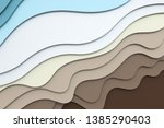 3d rendering  multilayer paper... | Shutterstock . vector #1385290403