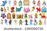 set of medieval character... | Shutterstock .eps vector #1385300720