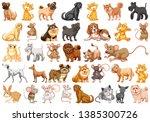 set of pet character...