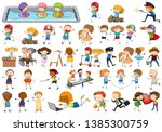 set of kid charcter illustration   Shutterstock .eps vector #1385300759