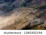 samaba rice terrace fields in... | Shutterstock . vector #1385302196