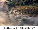samaba rice terrace fields in... | Shutterstock . vector #1385302199