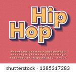 strong bold retro font effect ... | Shutterstock .eps vector #1385317283
