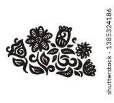 beautiful pattern flowers.... | Shutterstock .eps vector #1385324186