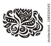 beautiful floral pattern.... | Shutterstock .eps vector #1385324243