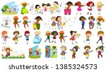 set of musician character...   Shutterstock .eps vector #1385324573