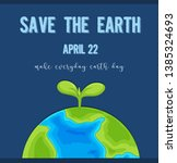 an earth day logo illustration | Shutterstock .eps vector #1385324693