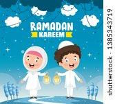 vector illustration of muslim...   Shutterstock .eps vector #1385343719