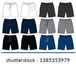 shorts design template fashion... | Shutterstock .eps vector #1385353979