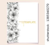 romantic wedding invitation... | Shutterstock . vector #1385360270