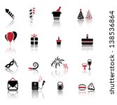 celebration and party icons | Shutterstock .eps vector #138536864