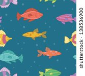 funny colorful fishes in the... | Shutterstock .eps vector #138536900