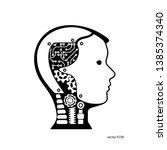 vector icon robot cybernetic... | Shutterstock .eps vector #1385374340