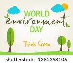 world environment day.... | Shutterstock .eps vector #1385398106