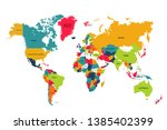 Colorful World Map Detail With...