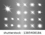 white glowing light explodes on ... | Shutterstock .eps vector #1385408186