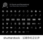 54 sports and recreational... | Shutterstock .eps vector #1385412119
