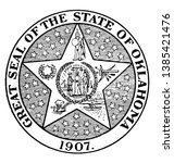 the great seal of the state of... | Shutterstock .eps vector #1385421476