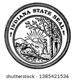the seal of the state of... | Shutterstock .eps vector #1385421536