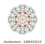 vector pattern. ornamental... | Shutterstock .eps vector #1385423213