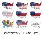united states of america map... | Shutterstock .eps vector #1385431940