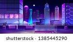 rooftop bar  restaurant lounge... | Shutterstock .eps vector #1385445290