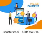 online payment mobile phone... | Shutterstock .eps vector #1385452046