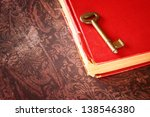 Red Vintage Book With Golden...