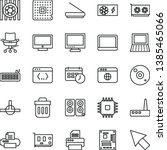 thin line vector icon set  ... | Shutterstock .eps vector #1385465066