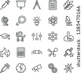 thin line vector icon set  ... | Shutterstock .eps vector #1385470166