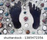 Footprint On Stone. Happy Blac...
