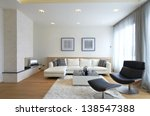 modern living room interior | Shutterstock . vector #138547388